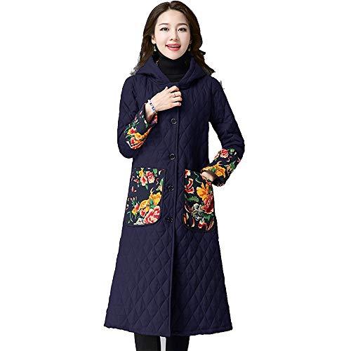 Lungo Da Giacca Cappotto Blue Cappotto Dimensioni Di Nazionale Cappotti Donna Grandi Cotone Vitila Vento qzx7twgzB