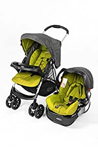 Graco Travel System Stroller, Car Seat With Bag, Green, Pack of 1