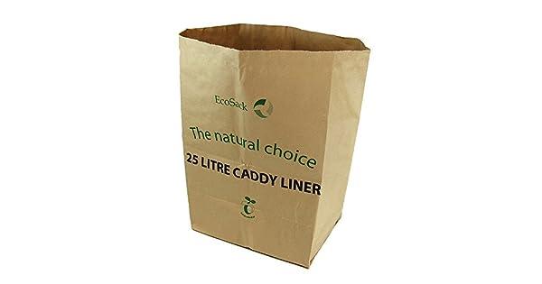 Amazon.com: 25 litros x 10 papel compostables Bolsas Basura ...