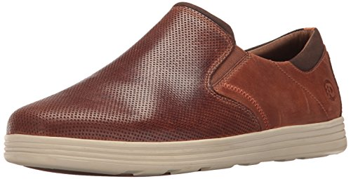 Dunham Men's Colchester Slipon Fashion Sneaker, Brown, 9 4E US by Dunham