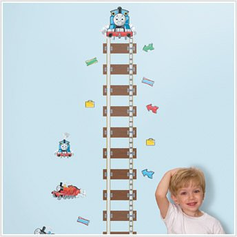 THOMAS the TRAIN Growth Chart Wall Stickers KIDS Decals