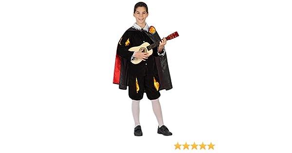 Atosa 23682 - Minstrel Boy traje, tamaño 140, negro