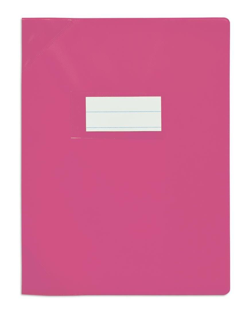 ELBA Lot de 3 Prot/ège-cahiers PVC 150 Strong Line 24x32 cm opaque rose