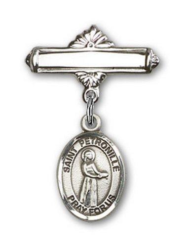 Icecarats Créatrice De Bijoux En Argent Sterling St. Charme Petronille Broche De Badge 1 X 5/8