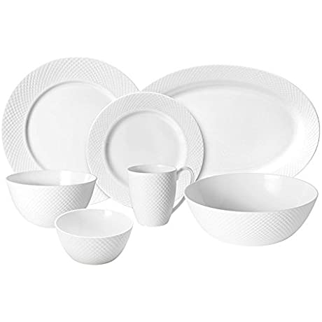 Mikasa Stanton Dinnerware Set Service For 12 With Serveware