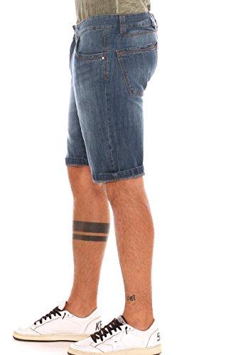 In Jeans Cotone Puro Stonewashed Bermuda Uomo Denim Guy xBqHZtt