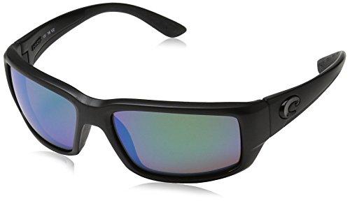 Costa Del Mar Fantail Sunglasses, Blackout, Green Mirror 580 Glass Lens