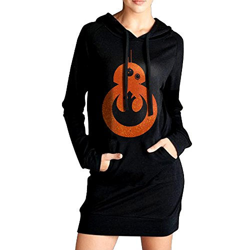 Women Star BB-8 Rebel Alliance Logo ZIP Hoodie (Xb Bb)