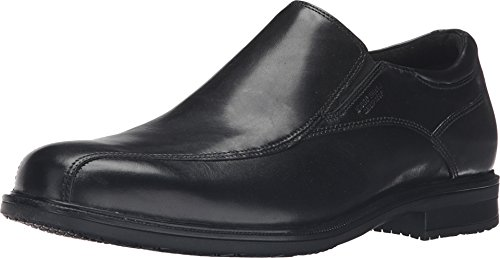 Rockport Men's Essential Details II Waterproof Bike Toe Slip On Black Leather 8.5 M