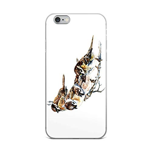 iPhone 6 Plus/6s Plus Case Anti-Scratch Creature Animal Transparent Cases Cover Sparrows Animals Fauna Crystal Clear