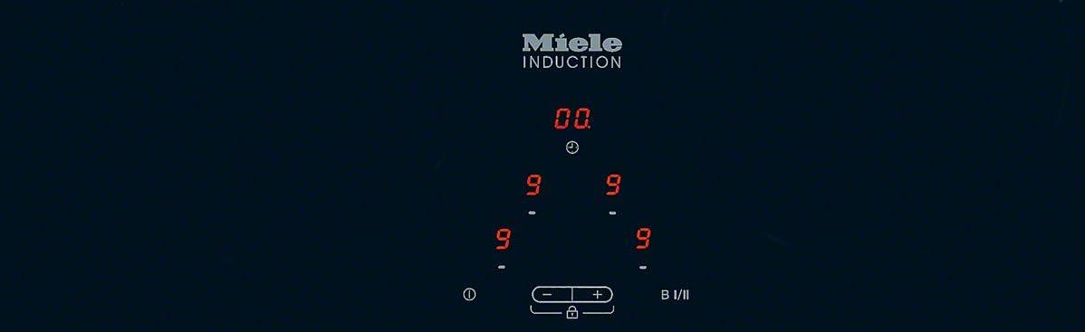 55,1 cm 5 Kochstellen Knebelbedienung Breite Induktion Miele KM 6112 Elektro-Kochfeld