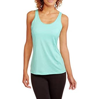 Amazon.com: Danskin Now Womens Active 2fer Tank with Mesh Detail and Strappy Bra: Clothing