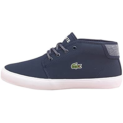 Kids Lacoste Junior Ampthill Chunky Trainers Dark Blue - Navy/White - 2 UK 2