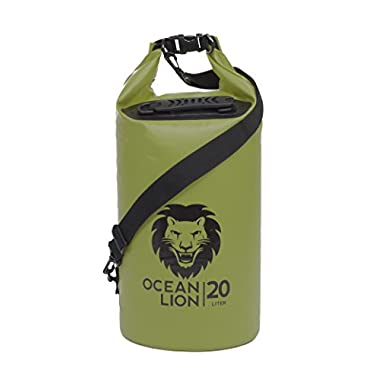 Adventure Lion Premium Waterproof Dry Bag With Twin Shoulder Straps & Grab Handle, Roll Top Dry Sack Great For Kayaking, Swimming, Boating (Green, 40 Liter)