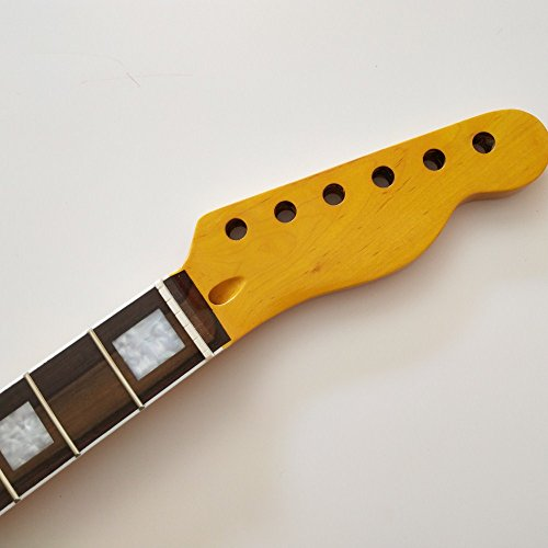 Maple 21 Frets guitar neck Replacement rosewood Fingerboard for TELE style Electric Guitar part (Maple Telecaster Neck With Tuners)