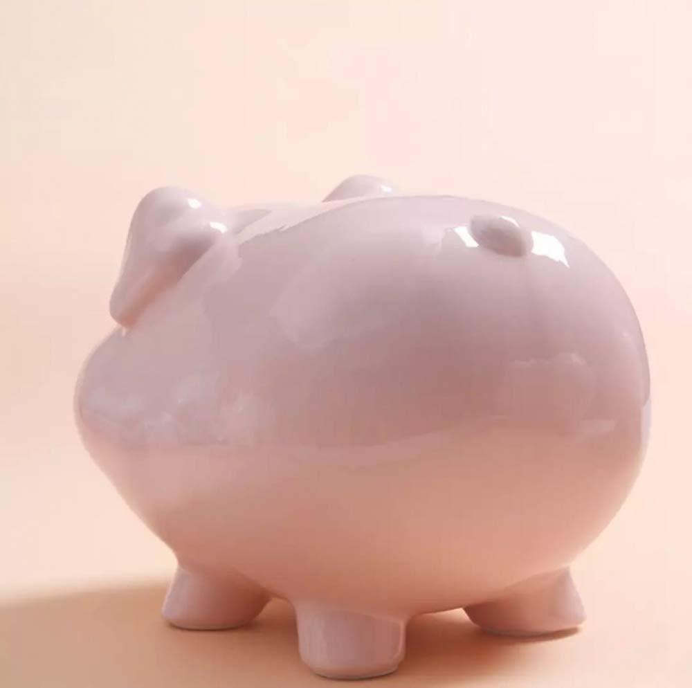 CUNQIAN Hucha de Cerdo cer/ámica con Forma de Cerdito Grande Azul Regalo de cumplea/ños para ni/ños