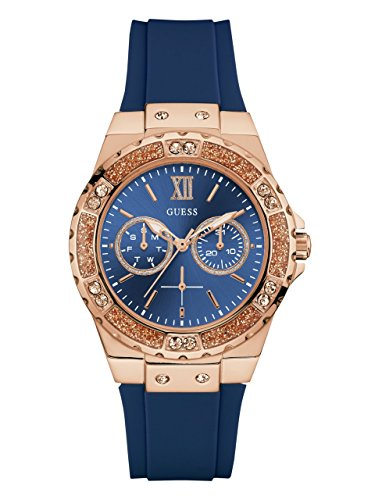GUESS Women's Quartz Stainless Steel Casual Watch, Color:Blue (Model: U1053L1) (Guess Watches For Women Blue)