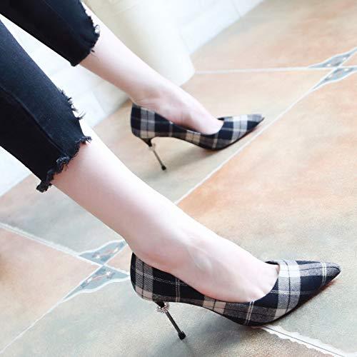 KPHY KPHY KPHY Damenschuhe/Im Herbst Damenschuhe Schlank und Diamanten Slim Flache 7Cm Hohen Ferse Einzelne Schuhe.35 des - b5b7f8