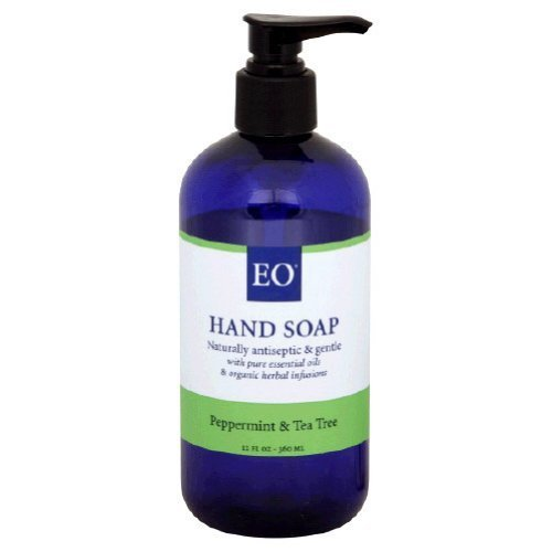 EO Peppermint & Tea Tree Hand Soap, 12 oz (Pack of 3)