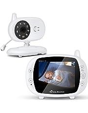 SaponinTree Babyfoon, videobabyfoon met digitale camera en audio, LCD-scherm en 2-weg talk, nachtzicht, lange afstand, ideaal voor nieuwe moeders