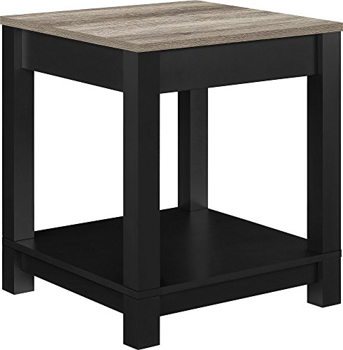 Ameriwood Home Carver End Table, Black - Living Room Mdf Table