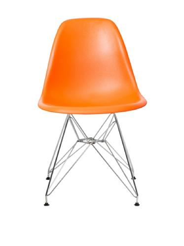 Aeon Paris Molded Plastic Side Chair, Orange, Set of 2