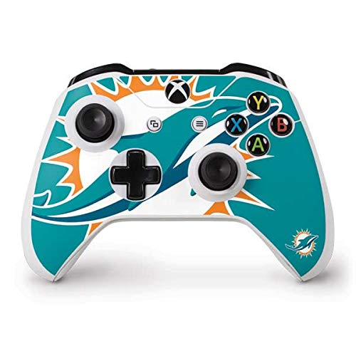Skinit Miami Dolphins Large Logo Xbox One S Controller Skin - Officially Licensed NFL Gaming Decal - Ultra Thin, Lightweight Vinyl Decal Protection