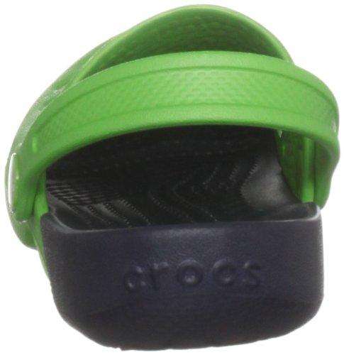Crocs Hale - Zuecos de Goma, Niños Verde (Lime/Navy)