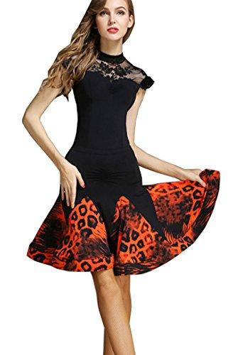 style Ballroom dress dress Waltz modern dress Evening dress National dance Orange qtBTdEnw