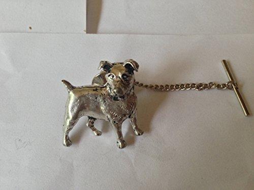 D13Jack Russell Terrier de cravate avec chaîne en étain anglais fait à la main à Sheffield