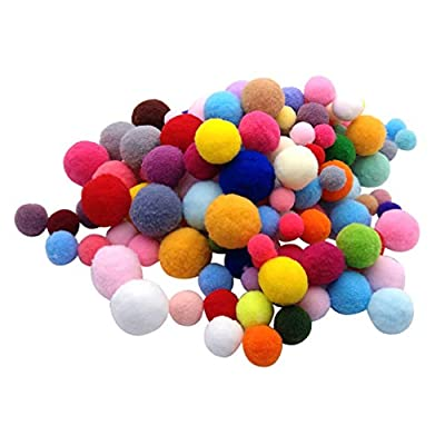 Milisten 160Pc Assorted Pompoms Colorful Arts and Crafts Pom Poms Balls Fluffy Balls for Christmas DIY Art Creative Crafts Decorations (Mixed Color): Arts, Crafts & Sewing