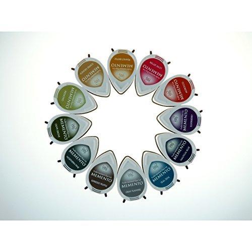 Tsukineko MD012300 Memento Dew Drops Fade Resistant 12-Piece Dye Inkpads Assortment, Snow Cones (Тwо Расk)