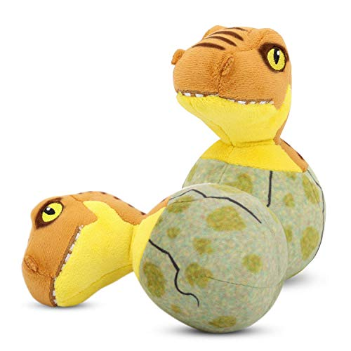 Pawaboo Plush Dog Toys, [2 Pack] Stuffed Plush Pet Toys Soft Dinosaur Baby Style Puppy Bite Play Chew Toys for Dogs…