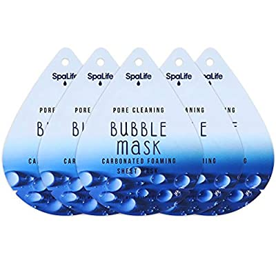 Spa Life Pore Cleaning Bubble Mask Carbonated Foaming Sheet Mask Set Of 5