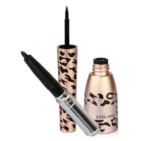 Sannysis 1PC Полезная Водонепроницаемый Leopard Shell черная жидкость Eye Liner Подводка для глаз Pen косметическая