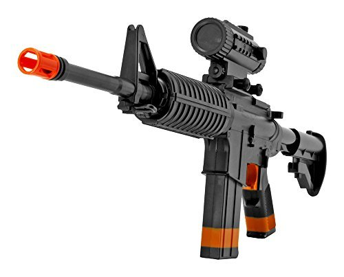 AEG M4 Full Auto Airsoft Rifle - Black - Semi-auto and Full Auto Electic Machine Gun Airsoft Full Auto