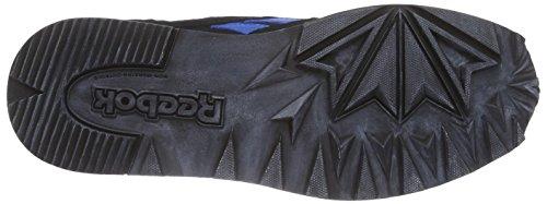 Reebok Classic Leather Utility, Scarpe da Ginnastica Uomo Nero (Schwarz (Black/Blue Sport/Stucco))