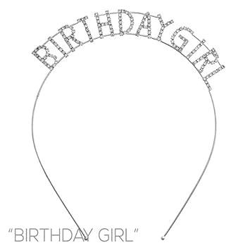 Amazon.com   Arsimus Sparkly Silver Rhinestone Birthday Girl Party Headband    Beauty b87f1e1a825