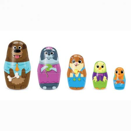 Schylling Little Classics Family Pets Tin Nesting Dolls