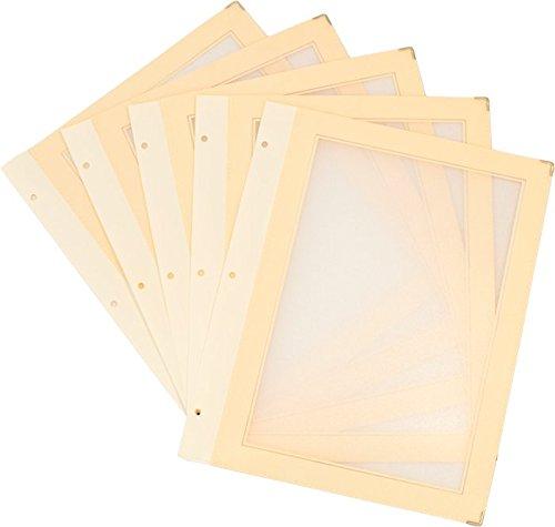 Securit A4 – Inserti in legno per menù, formato A4, confezione da 5, colore: Avorio Vermes MC-WIA4-BI