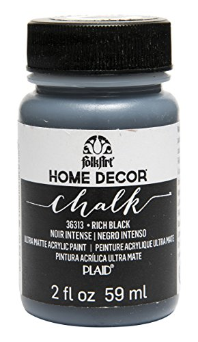 FolkArt 36313 Home Decor Chalk Furniture & Craft Paint in Assorted Colors, 2 ounce, Rich black