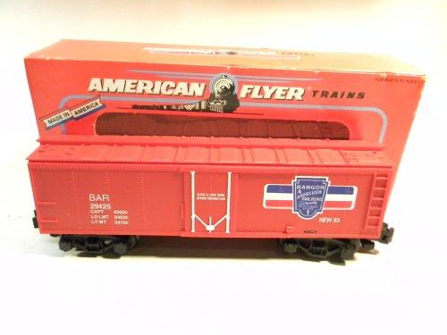 American Flyer 48316 Bangor and Aroostock Refrigerator Car S Gauge - Bangor Stores