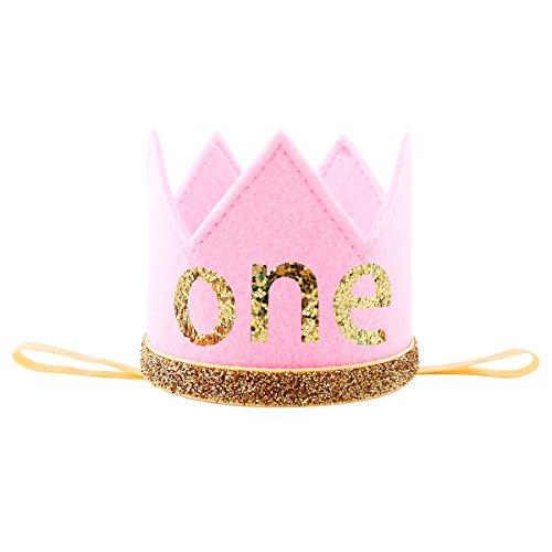 Pink Felt Cake Headband - 1
