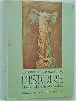 Amazon Fr Histoire Classe De Fin D Etudes Editions