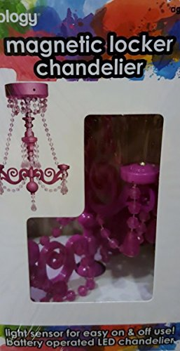Magnetic Auto Light Sensor LED Locker Chandelier (Pink) (Blue Light Chandelier compare prices)