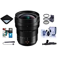 Panasonic Lumix DG Leica Vario-Elmarit 8-18mm f/2.8-4 Asph. Zoom Lens for Micro Four Thirds Mount - Bundle with 67mm Filter Kit, Cleaning Kit, Capleash, Lens Wrap, LensPen Lens Cleaner, Software Pack