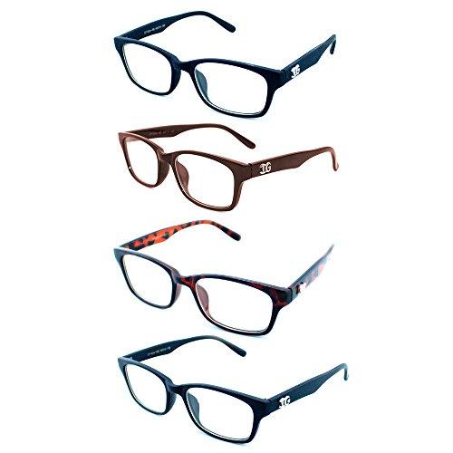 Newbee Fashion - IG Unisex Casual Fashion Basic Square Frame Clear Lens Eye - Square And Round Frames Eyeglass