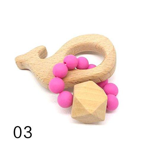 Di Sonagli Perline Regalo Bracciali Masticare Xv3 Giocattoli 2 Montessori Lettino Massaggiagengive Silicone Dentizione Bambino Zyalex Faggio Perline Faggio 3 Legno Di Bambino AF8IaOqv