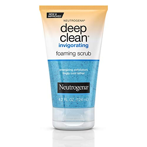 - Neutrogena Deep Clean Invigorating Foaming Face Scrub with Glycerin, Cooling & Exfoliating Face Wash to Remove Dirt, Oil & Makeup, 4.2 fl. oz
