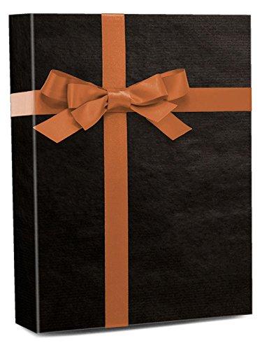 30'' X 100' Black Shadow Stripe Gift Wrap by Paper Mart